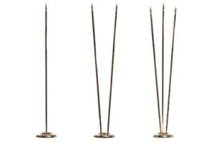Флагшток металл «золото» — 31,5 см