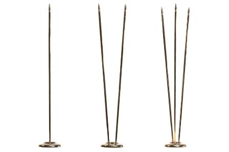 Флагшток настольный металл «золото» — 31,5 см
