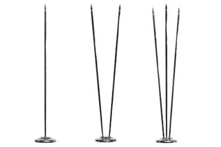 Флагшток настольный металл «серебро» — 31,5 см